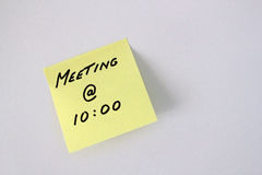meeting post-it note Royalty Free Stock Photography