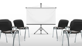 Meeting Presentation Room With Projection Screen Royalty Free Stock Photography