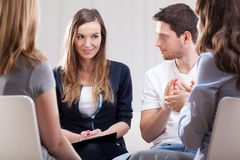 Meeting during psychotherapy Royalty Free Stock Photos