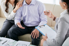 Meeting with realtor royalty free stock photo