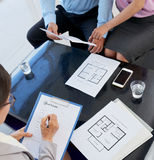 Meeting with realtor royalty free stock image