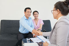 Meeting with realtor royalty free stock images