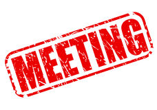 Meeting red stamp text Stock Image