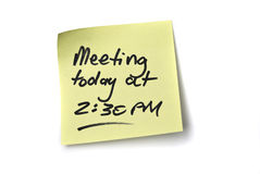 Meeting Reminder royalty free stock image