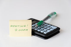 Meeting reminder Royalty Free Stock Photos