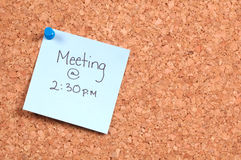 Meeting Reminder Stock Photo