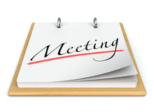 Meeting Reminder. Calendar. Isolated On white. 3D rendering Stock Photo