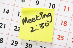 Meeting Reminder Stock Images