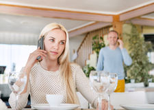 Meeting in restaurant Stock Images
