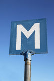Meeting Road Sign Stock Photography