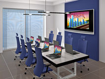 Meeting room. Room for negotiations and meetings. Made in 3D Royalty Free Stock Photo