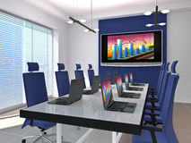 Meeting room. Room for negotiations and meetings. Made in 3D Stock Images