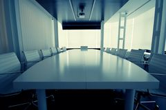 The meeting room. Partial view of a boardroom Stock Photos