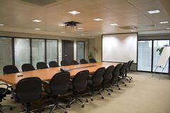 Meeting room. Shot of an upscale Conference / Meeting Room Royalty Free Stock Photos