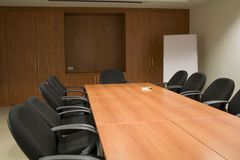 Meeting room. Conference room. Table and chairs Stock Image