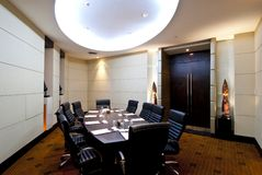 Meeting room. Interior with accessories Royalty Free Stock Images