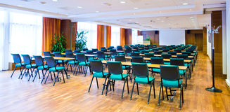Meeting room. A meeting room ready for use royalty free stock image