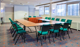 Meeting room. A meeting room ready for use stock photography