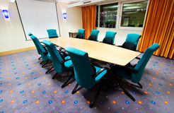 Meeting room. A meeting room ready for use Stock Image
