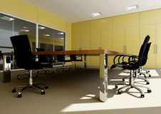 Meeting room. Perspective of empty modern office Royalty Free Stock Photo