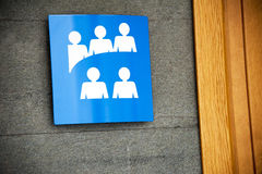 Meeting room. A meeting room sign out the room Royalty Free Stock Photo