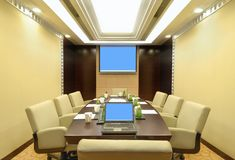 Meeting room. A small meeting room in the hotel Stock Image