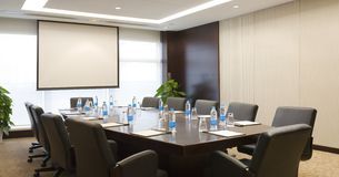 Meeting room. A small meeting room in the hotel Royalty Free Stock Photography