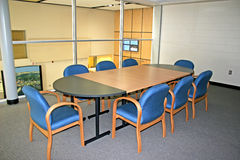 Meeting Room. With a glass wall royalty free stock photo