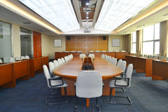 Meeting room. Big meeting room with modern decoration Stock Photos