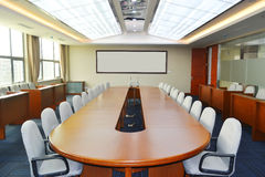 Meeting room. Big meeting room with modern decoration Royalty Free Stock Photography