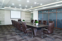Meeting room. Big meeting room with modern decoration Royalty Free Stock Photo