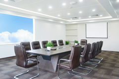 Meeting room. Big meeting room with modern decoration Stock Image