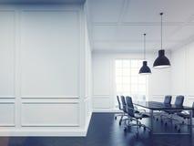 Meeting room with black floor Stock Image