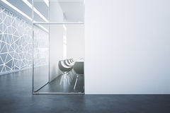 Meeting room with blank poster Royalty Free Stock Images