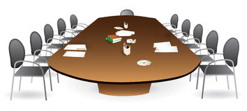 Meeting room - boardroom Stock Image