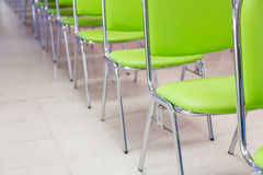 Meeting room chair lined Royalty Free Stock Photography