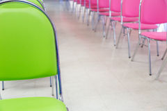 Meeting room chair lined Stock Photography