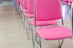 Meeting room chair lined up Stock Photos