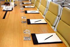 Meeting room closeup stock photography