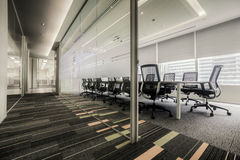 Meeting room. Conference table and chairs in meeting room Stock Images