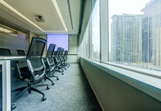 Meeting room. Conference table and chairs in meeting room Royalty Free Stock Image