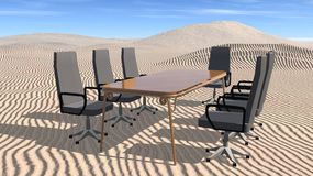 Meeting room in desert Stock Photography