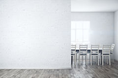 Meeting room with empty wall Stock Images