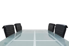 Meeting room. With glass top table, office interior Royalty Free Stock Photos