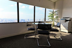 Meeting room at high altitude. Meeting room in the sky-scraper Royalty Free Stock Image