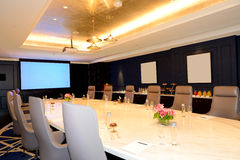 The meeting room interior at luxury hotel Royalty Free Stock Images