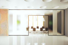 Meeting room interior. Modern meeting room interior. 3D Rendering Stock Images