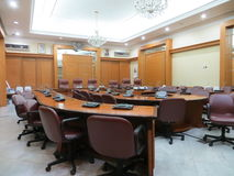Meeting room at Jakarta City Hall. JAKARTA, INDONESIA - April 30, 2017: Meeting room at Jakarta City Hall Royalty Free Stock Photography