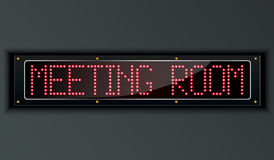 Meeting room LED digital Sign Stock Photography