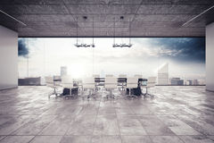 Meeting room. The meeting room in a luxury building Stock Photography
